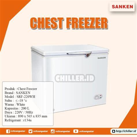 jual chest freezer sanken  litter model srf  wh