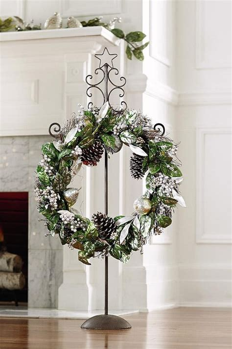 short on space hang your wreath on a wreath stand