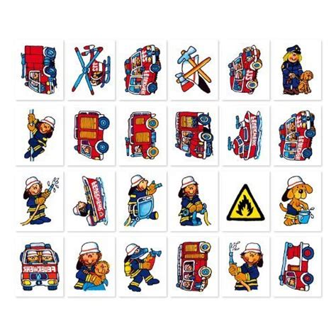 tattoo shoos firefighters mini tattoos 24 pieces morgenthaler s