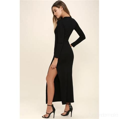black jersey knit dress chic black sleeve dress jersey knit maxi dress