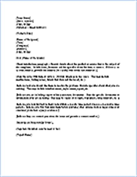 Complaint Letter House Defects Free Complaint Letter Template Sle Letter Of Complaint