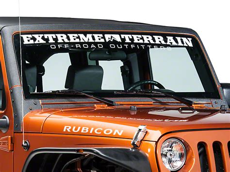 jeep windshield decal barricade jeep wrangler windshield frame shield decal