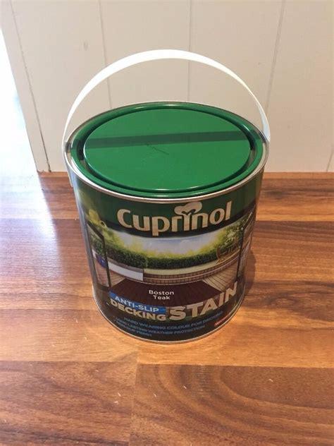 cuprinol anti slip boston teak decking stain