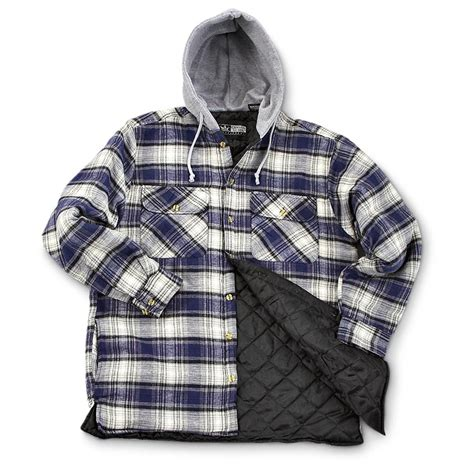 Flanel Flanello guide 174 hooded flannel jacket 153747 shirts at