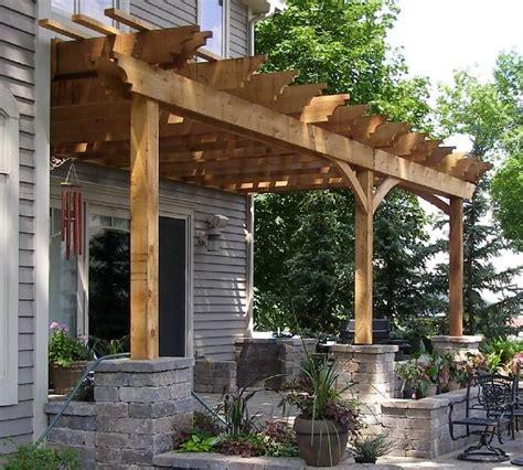 Ideas Design For Attached Pergola Pergola Attached To House Search Home Exteriors Decks Pergola Plans