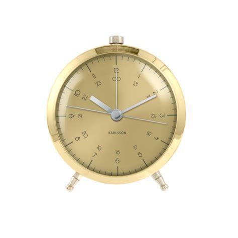 classic brass plated alarm clock