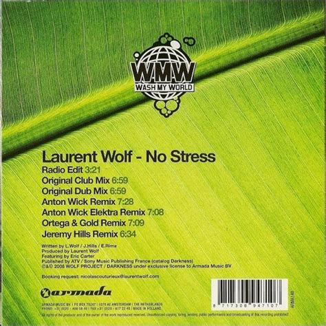 albun obat ni stress vol 2 no stress remixes bonus track version laurent wolf