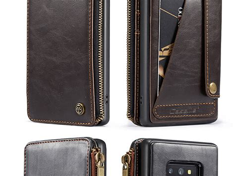 Edc Black Zipper samsung galaxy note9 edc zipper wallet leather