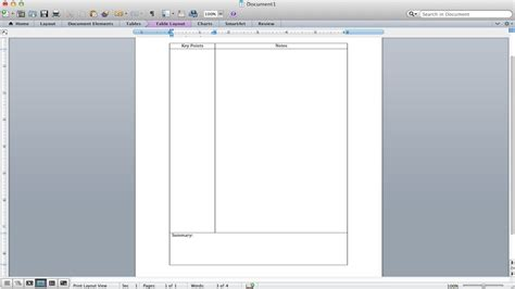 Cornell Notes Tutorial How To Make A Cornell Notes Template Using Microsoft Word Youtube Cornell Notes Template Microsoft Word