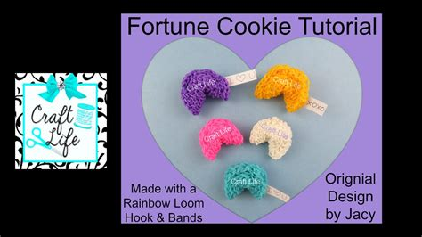 How To Make A Fortune Cookie Out Of Paper - craft 3d fortune cookie tutorial using a rainbow loom