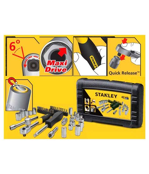 Stanley 88 187 1 23 Socket Std 12dr 12pt 36mm stanley sockets and accessories stmt72793 8 metric socket set 42 pc buy stanley sockets