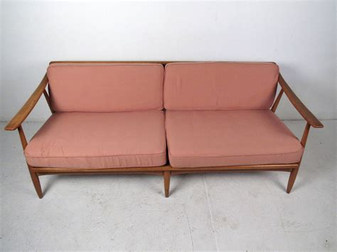 mid century wood frame sofa mid century modern wood frame sofa for sale at 1stdibs
