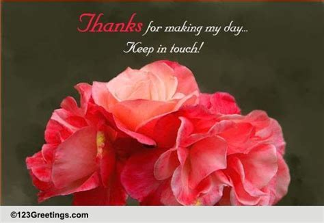 Thanks, Keep In Touch! Free Stay in Touch eCards, Greeting
