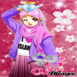 gambar kartun muslimah cantik  imut khazanah islam