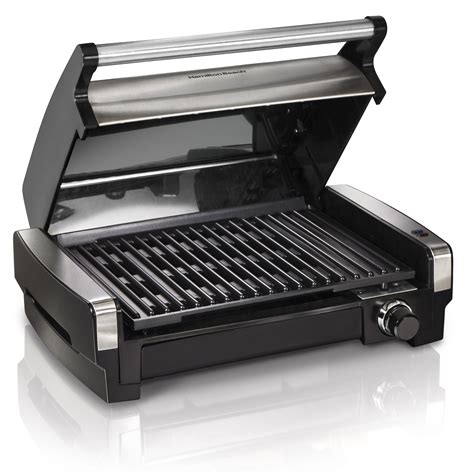 Indoor Kitchen Grill by The Lid On This Hamilton Searing Indoor Grill