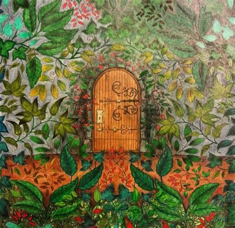secret garden colouring book brisbane center door secret garden porta central jardim secreto
