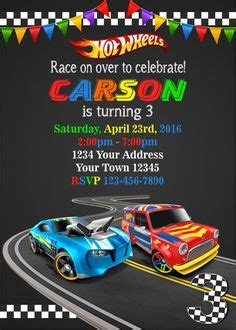Hot Wheels Invitation Template Printable In 83 Hot Wheels Speed City Places To Visit Wheels Birthday Invitation Template