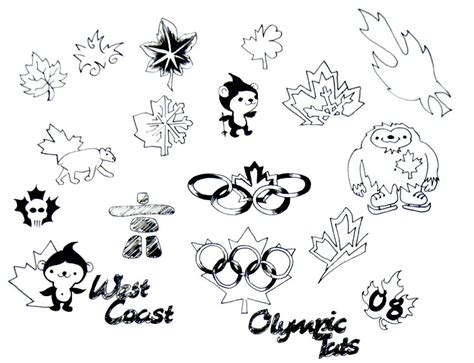 west coast tattoo designs lockhart s west coast olympic canadiana