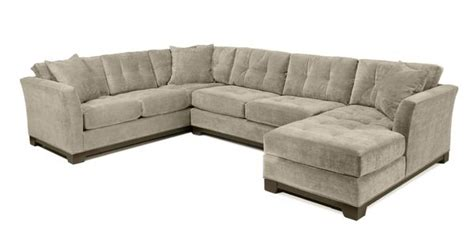 taupe sectional sofa microfiber chaise lounge living room 1599 elliot fabric microfiber sectional sofa 3 piece