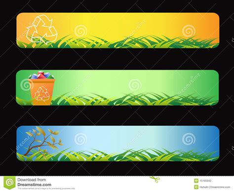 banner design recycle green recycling banner stock vector image of leaf clear