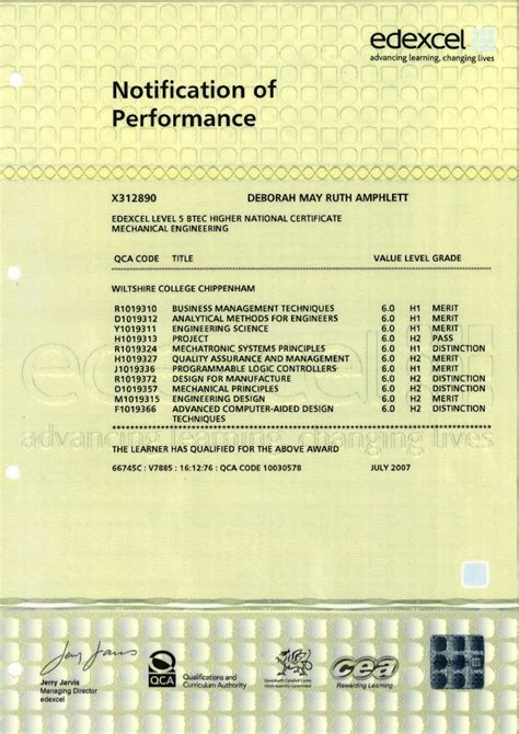 design and manufacturing national 5 hnc mechanical engineering july 2007 continued
