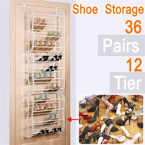 36 pair over the door hanging shoe rack shelf organizer over the door shoe rack for 36 pair wall hanging closet