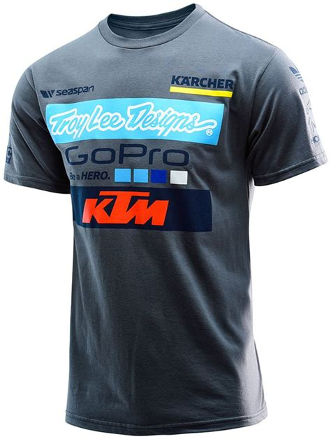 Ktm Merchandise Australia Troy Designs Mens 2016 Team Ktm Cotton Graphic T Shirt