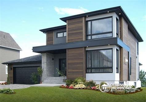 affordable house plans to build unique modern house plan w3713 v1 maison contemporaine abordable 3 chambres