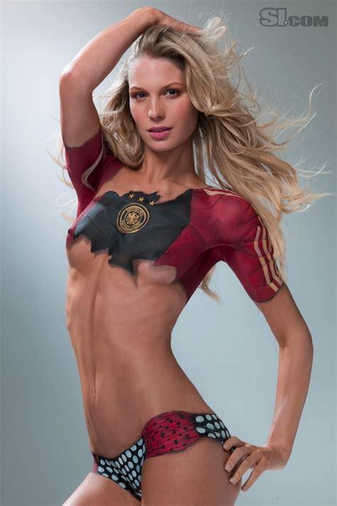 Sarah brandner body painting 2010 sports illustrated swimsuit