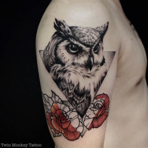 35 glorious geometric owl tattoos amazing tattoo ideas