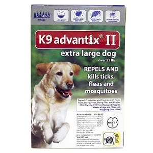 k9 advantix ii large k9 advantix ii large 55 lbs 6 pack blue