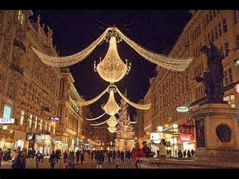 vienna beautiful christmas lights in the centre of the
