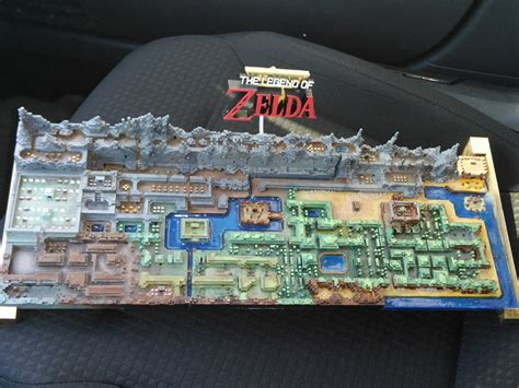 legend of zelda map labeled original the legend of zelda map printed in 3d technabob
