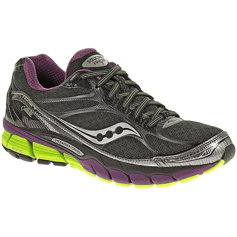 saucony ride womens running shoes saucony womens ride 7 gtx running shoes black purple