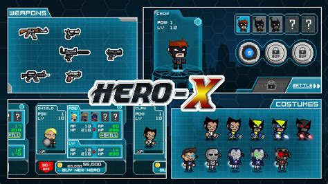x mod game mod apk hero x apk v1 0 4 mod unlimited money gems hit maxz