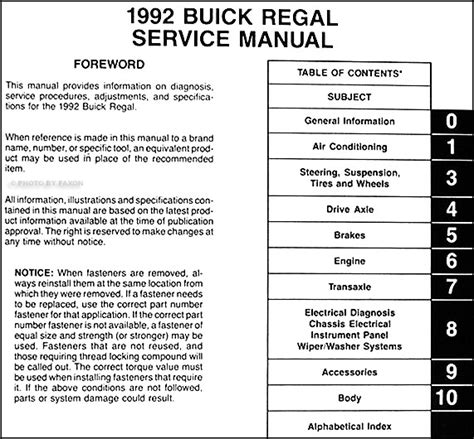 service manual pdf 1992 buick regal engine repair manuals service manual pdf 2011 buick