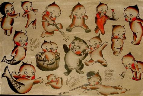 kewpie doll tattoo kewpie flash jackie dunn smith