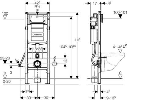 Inbouw Wc Lekt by Geberit Duofix Wc Element H112 Inclusief Reservoir Up320