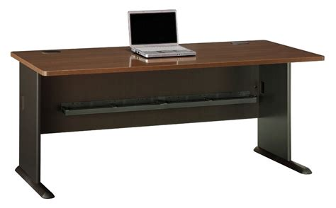 series a walnut 72 inch desk from bush wc25572