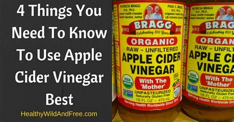 Can You Use Apple Cider Vinegar To Detox by 4 Things You Need To To Use Apple Cider Vinegar Best