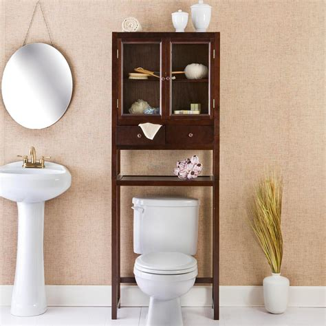Bathroom Toilet Cabinet Reserve Deluxe Bath Space Saver At Hayneedle