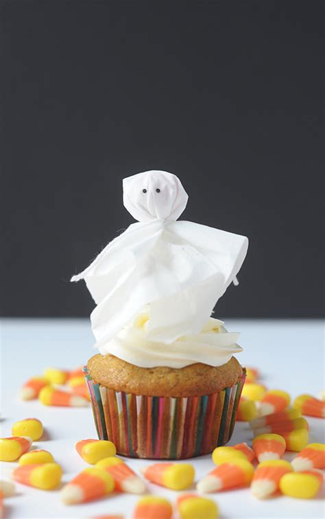 Diy Christmas Home Decor diy lollipop ghost cupcake topper julep