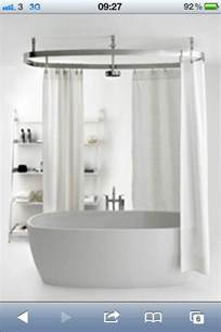 baths with showers over shower over freestanding bath bathroom pinterest