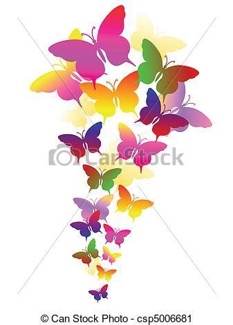 clipart farfalle clipart vettoriali di estratto farfalle fondo colorato