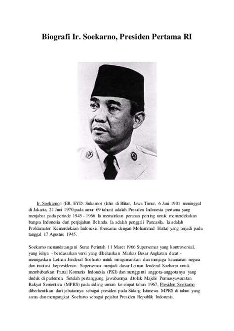 biografi soekarno lengkap i sejarah kehidupan presiden ir tugas ips surur