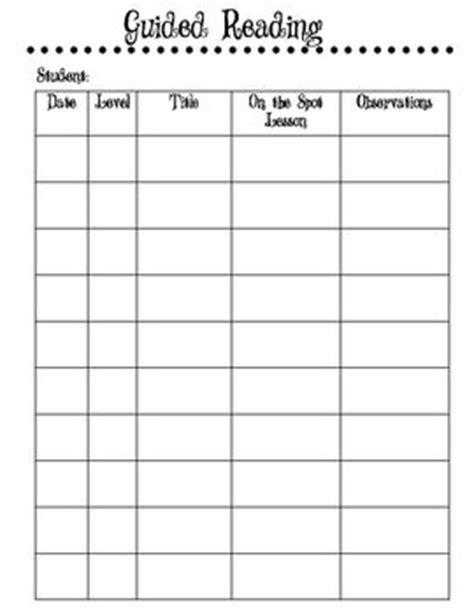 guided reading observation template guided reading reading and guided reading lesson plans on