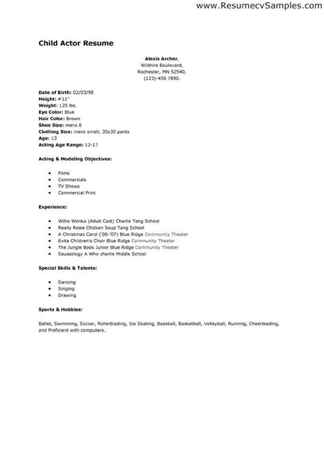 theatrical resume format dolap magnetband co