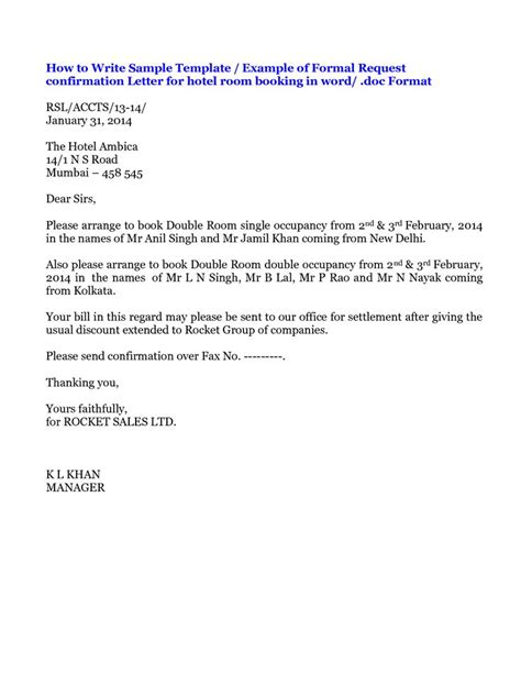 Inquiry Letter About Hotel Accommodation request letter for hotel booking