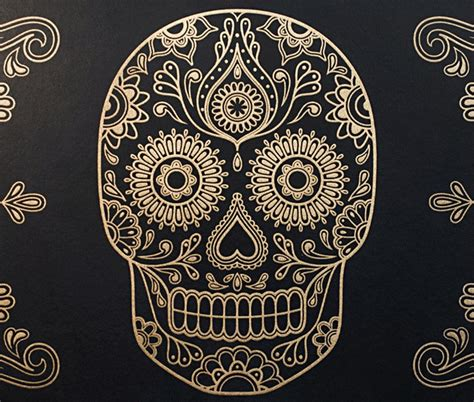 charming Dia De Los Muertos Home Decor #5: Day-of-the-Dead-Sugar-Skull-Wallpaper-2.jpg