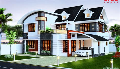 double floor modern style home design 2015 low cost kerala house home design
